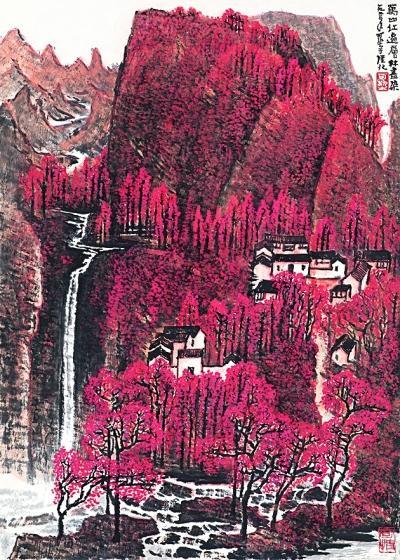 万山红遍 层林尽染(中国画)李可染 1964年  北京画院藏