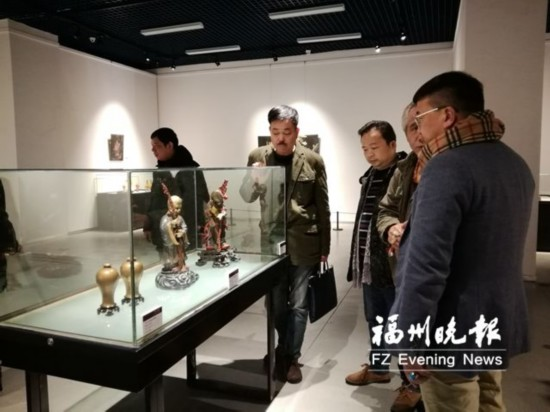 福建省美术馆展出福州传统漆艺精品 市民可免费观展