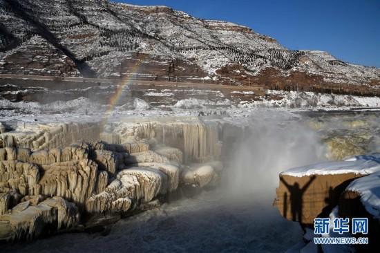 #(环境)(1)黄河壶口瀑布雪景如画