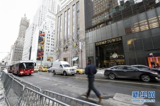 (国际)(1)纽约特朗普大厦发生火灾