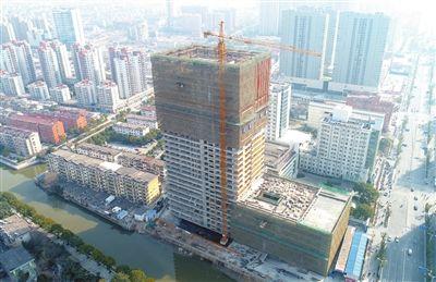 南通海安县人民医院门急诊病房大楼封顶