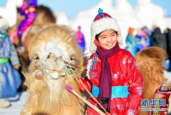 (社会)(4)冰雪草原上的骆驼文化节