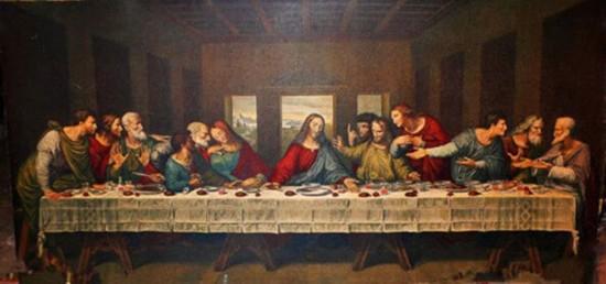 达芬奇的名作《最后的晚餐》