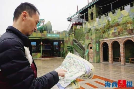 厦门翔安大嶝4名小伙走街串巷 绘制有文化气息的特色地图