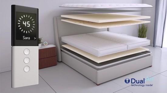 气室都会根据用户的睡姿对床垫形状进行自动调整