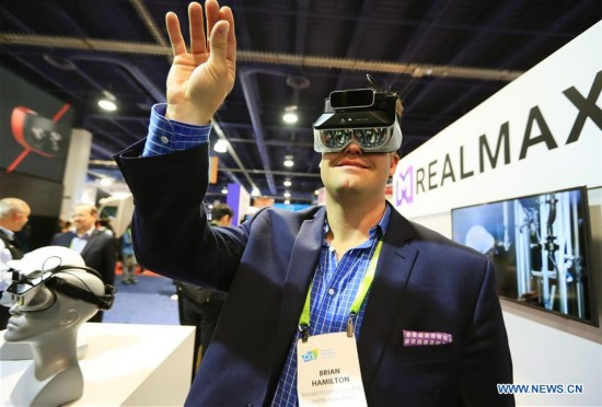 Chinese companies present products at CES in Las Vegas, U.S.