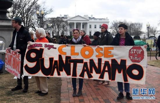 (XHDW)(1)华盛顿集会抗议要求关闭关塔那摩监狱
