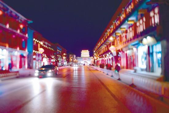 盛京古城亮化显古韵