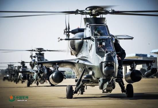 陆航旅武装直升机超低空突击飞行训练【3】