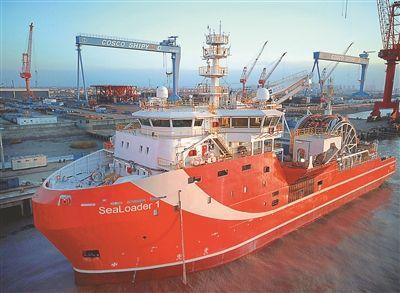 全球首型深海原油中转船南通出海 开启试航