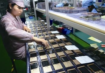 泰州首个手机整机项目投产 15万台手机销往国外