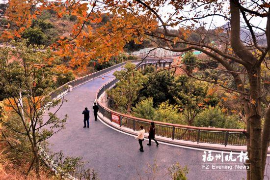 福州罗源凤梅生态公园春节前开园 步道伸巨臂拉起凤山和梅岭