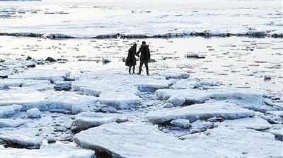 """大连现""""极地冰原""""景观 专家:只是看着像"""
