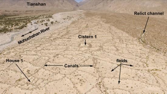 无人机发现1600年前中国古丝绸之路灌溉系统