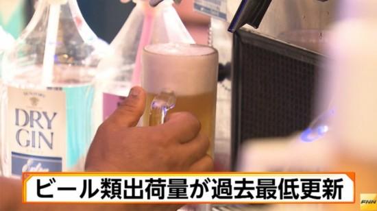 日本啤酒行业不景气2017年出货量创新低