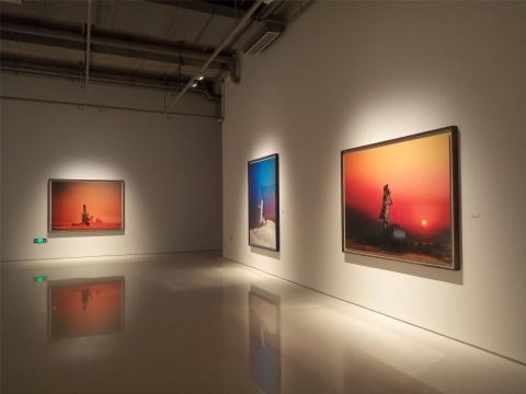 展览现场,蒋志摄影作品
