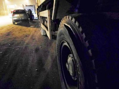 渣土车补胎时轮胎爆炸 扬州男子被炸飞身亡