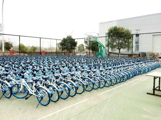 未经许可投放 淮安查扣约1500辆哈罗共享单车