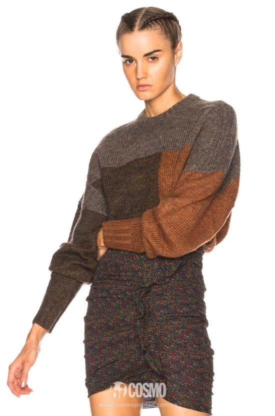 ISABEL MARANT ETOILE 拼色毛衣 267美元 可从FWRD网站购买