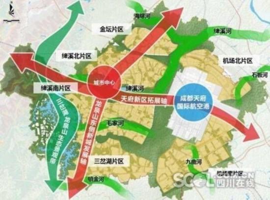 天府国际空港新城规划图-全国网媒新春走基层纵览成都新城