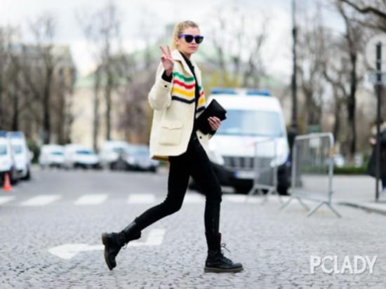 直筒裤 马丁靴才够酷 打造冬日不羁Chic感