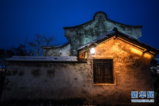"""(美丽中国)(8)江南水乡变身""""冬日雪乡"""""""
