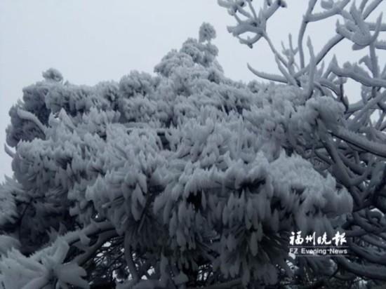 福州高海拔地区31日或有雪 部分道路可能结冰