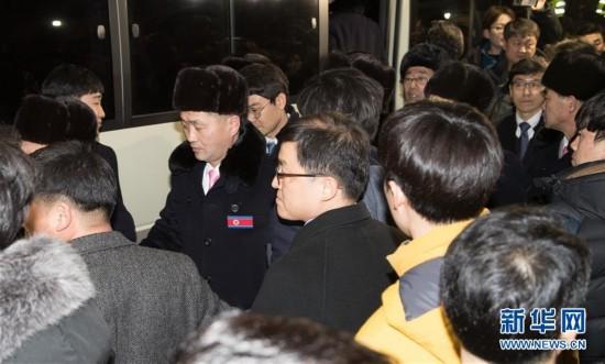 (冬奧會)(2)朝鮮冬奧體育代表團抵達韓國