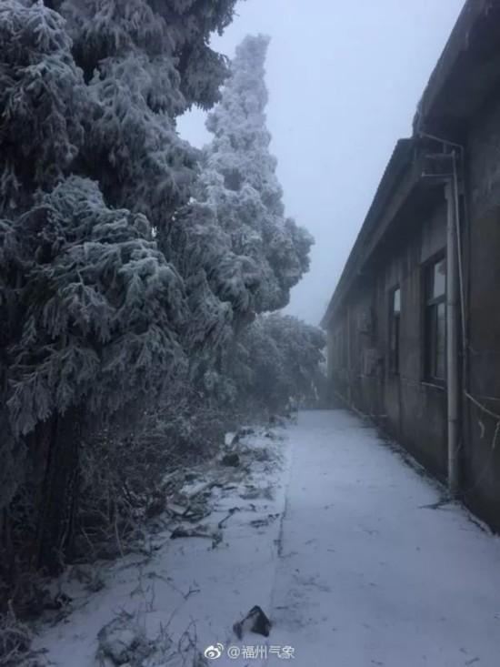 福州下雪了!3日起3天气温持续低迷 做好防寒保暖