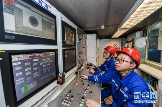 (新春走基层)(1)苏通GIL综合管廊长江隧道工程施工进展顺利