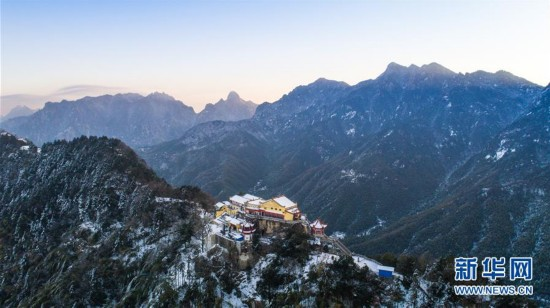 2个月份的美景-位于安徽省青阳县的九华山是我国佛教名山之一,作为国家地质公园,