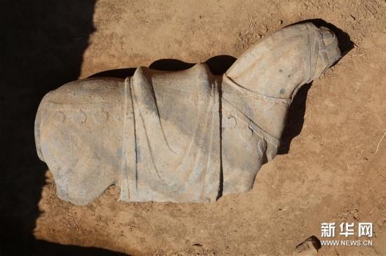 (图文互动)(1)陕西发现现存最大唐代陵园建筑基址