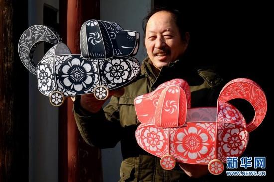 #(社会)(1)生肖狗传统手工艺作品迎新春