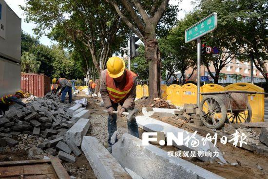 福州白马路光禄坊路口节前增新车道 10个缓堵项目节后启动