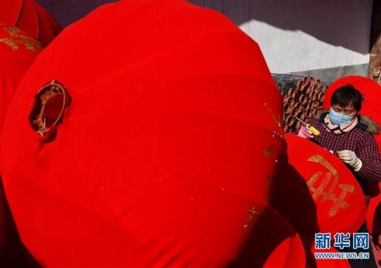 (社会)(8)春节到 灯笼俏
