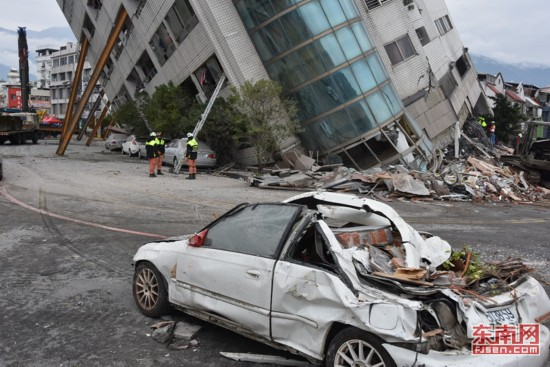 花莲6.5级强震造成重大伤亡 1名厦门游客伤重不治