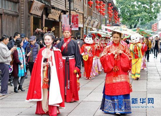 (文化)(2)福州举行十邑民俗踩街活动
