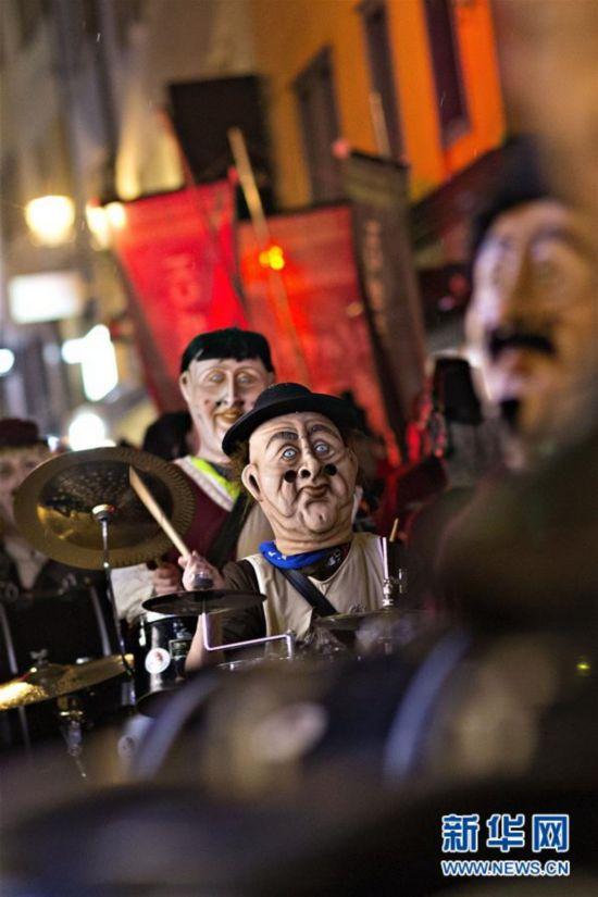 (國際)(1)瑞士盧塞恩舉辦狂歡節