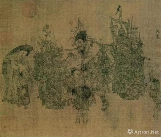 李嵩《货郎图》(局部),南宋,北京故宫博物院藏