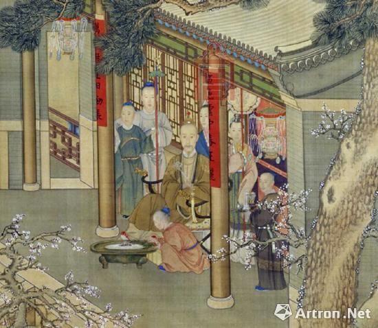 蒙古风格油画手绘