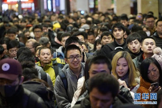 (社会)(1)节前铁路春运客流高峰来临