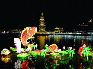 里运河新春灯会亮灯 展出时间持续至3月11日