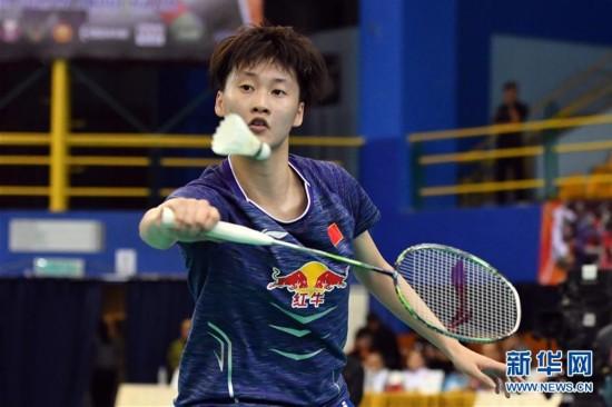 (体育)(1)羽毛球――亚洲团体锦标赛决赛:中国女队对阵日本女队