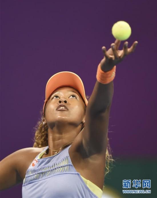 (体育)(2)网球――WTA卡塔尔公开赛:大阪直美晋级