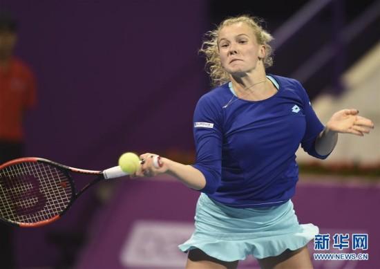 (体育)(5)网球――WTA卡塔尔公开赛:大阪直美晋级