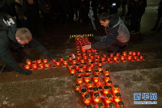 (国际)(2)莫斯科民众悼念失事客机遇难者