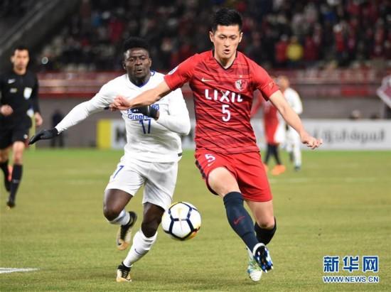 (体育)(4)足球――亚冠:上海申花战平鹿岛鹿角