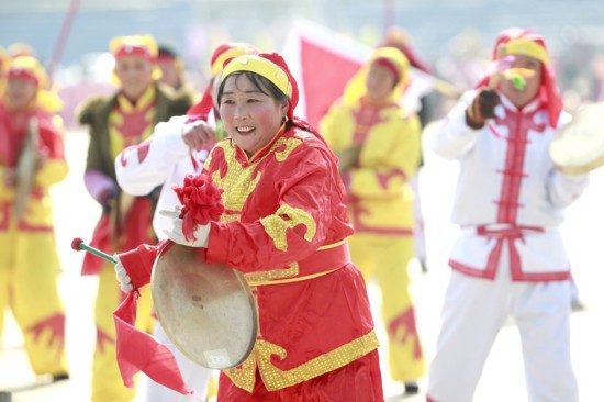 """江苏盱眙举办""""城乡一体化""""迎新春民俗文化活动"""