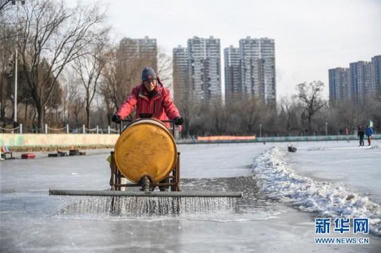 零下20度,沈阳隆冬浇冰人