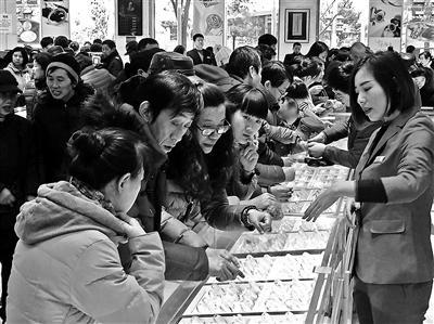 今年春节黄金销售上升北京菜百黄金六天卖了1.8亿元